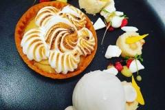 Lemon Meringue Pie, Desserts at Ness Walk Hotel, Inverness.