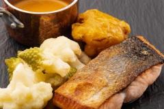Salmon dish at Ness Walk Hotel, Inverness.