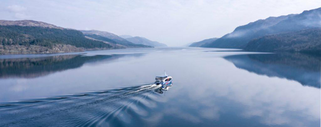 A boat trip on loch ness