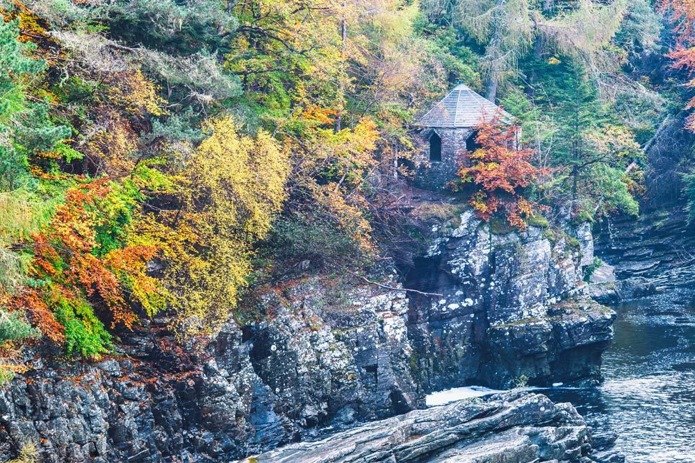 Beautiful autumn colours at Invermoriston near Loch Ness